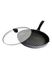 Grey Fish And Steak Oval Pan With Induction Base - Stoneline