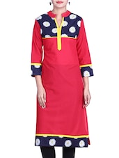 Blue & White Cotton Kurti - By