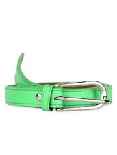 Slim Green Belt With Metallic Buckle - Moac