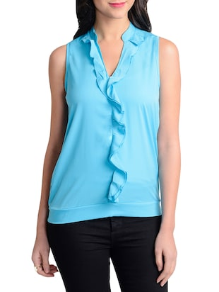 turquoise colored, top