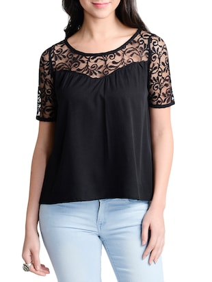 black colored, top