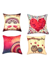 Quirky Digital Print Cushion Covers(Set Of 4) - SEJ By Nisha Gupta