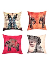 Traditional Digital Print Cushion Covers(Set Of 4) - SEJ By Nisha Gupta