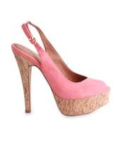 Peep-toe Pink Stilettoes - Bello Pede