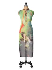 Long Printed Georgette Kurta - VarEesha