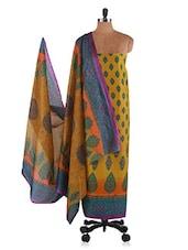 Multicoloured Printed Cotton Suit Set - Ethnic Vibe