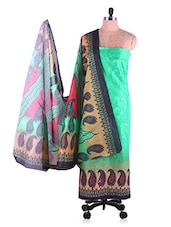 Green Printed Suit Set - Ethnic Vibe