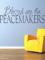 """""""Bless Are The PEACEMAKERS"""" Quoted Wall Sticker - My Wall - 992517"""