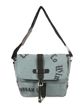 Grey Jute Cotton Messenger Bag - THE JUTE SHOP