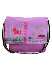 Multicolor Cotton Cartoon Sling Bag - THE JUTE SHOP