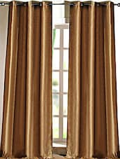 Dark Beige Polyester Door Curtain - Deco Essential