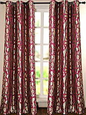 Wine Printed Polyester Door Curtain - Deco Essential