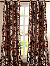 Brown Printed Polyester Door Curtain - Deco Essential