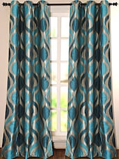 Turqoise Printed Polyester Door Curtain - Deco Essential