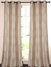 Ivory Self Weaved Polyester Door Curtain - Deco Essential