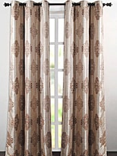 Beige Printed Polyester Door Curtain - Deco Essential