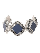 Metal Alloy Blue Color Oxidized Bracelet - Modish Look