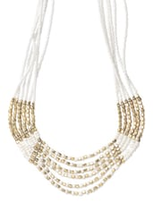 Metal Alloy White Party Wear Necklace - Modish Look