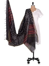 Hand Block  Printed  Chanderi  Dupatta - Geeta Creation - 994187