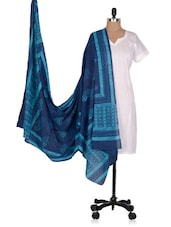 Hand Block  Printed  Cotton Voile  Dupatta - Geeta Creation
