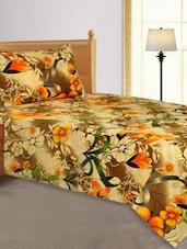 Floral Print  Single Bed Sheet - Salona Bichona