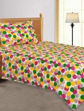 Multi Colour Dot Printed  Single Bed Sheet - Salona Bichona