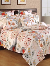 Floral &leaves printed cotton  Double bed sheet -  online shopping for bed sheet sets