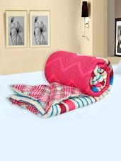Multi Colored Chevron Striped Printed Cotton Single Comforters - Salona Bichona
