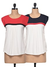 Combo Of Colour Block Tops - London Off