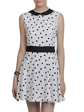 White & Black American Crepe Dress - By