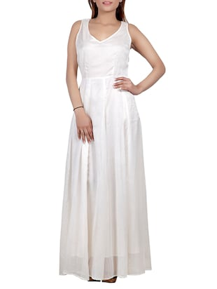 off white Chiffon Gown
