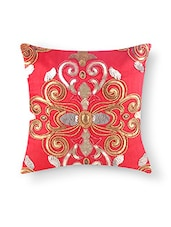 Red Dupion Silk Single Cushion Cover - By