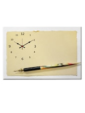 Beige Analog Wall Clock - Design O Vista