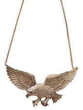 Gold Plated Eagle Pendant Necklace - By
