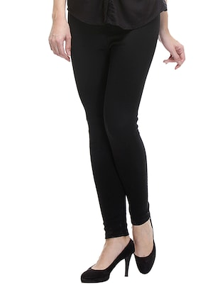 Black Acro Wool Woolen leggings.