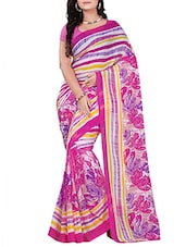 Magenta Chiffon Saree - By