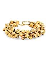 Gold Lakh, Brass, Gold, German Silver, Faux Druzy, Chemical Foil Bracelet - By
