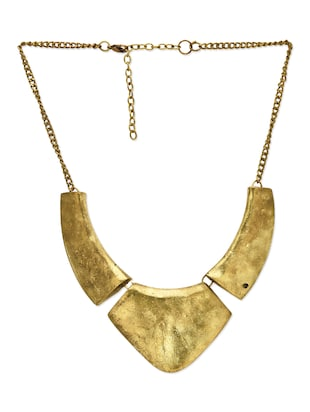 Gold 3 piece collar necklace