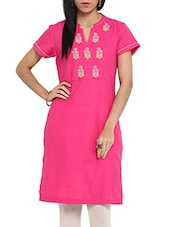 Pretty In Pink Cotton Kurta - Ekmatra
