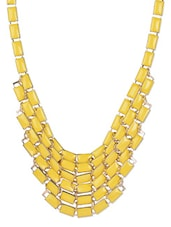 Elegantly Designed Yellow Necklace - Moed Buille