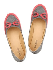 Black & Red Color Cotton Poly Denim Flat Belly - Townage