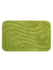 Green Wavey Strips Textured Bathmat - Riva Carpet