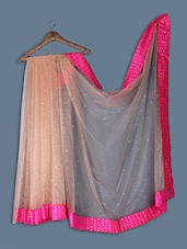 Net Saree With Sequence Work On The Blouse - Ethnictrend