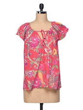 Multicolored Floral Casual Cotton Top - The Shop