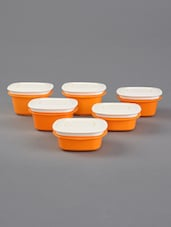 Orange Storage Containers Combo Set Of 6 - By