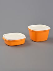 Orange Air Tight Storage Containers Plus Set Of 2 - By