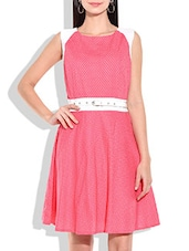pink rayon skater dress -  online shopping for Dresses
