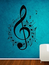 Music Wall Decal And Sticker Black Color Tiny Size- 11*16 Inch - By