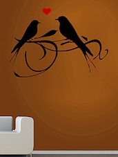 Love Birds Wall Decal And Sticker Red & Black Color Tiny Size- 16*11 Inch - By