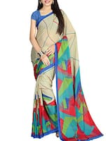 multi chiffon printed saree -  online shopping for Sarees